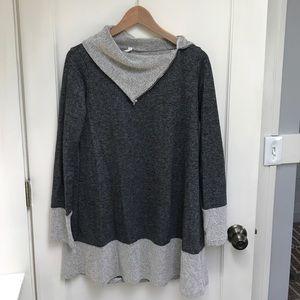 PinkBlush Maternity Tunic Sweatshirt, grey